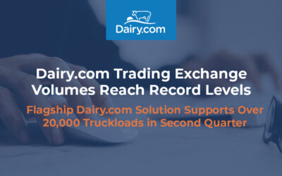 Dairy.com Trading Exchange Volumes Reach Record Levels – A New Platform in 2022 Will Boost Activity Even More